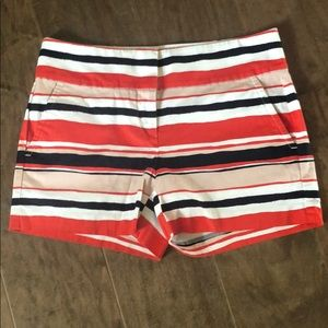 Ann Taylor Signature striped shorts Sz 2